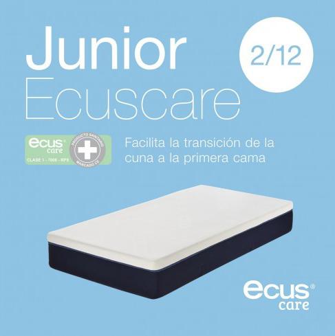 El primer colchón para niños Ecus Care con certificado sanitario. El Ecus Care junior se adapta al crecimiento del niño con una firmeza adecuada que facilita un desarrollo mucho má