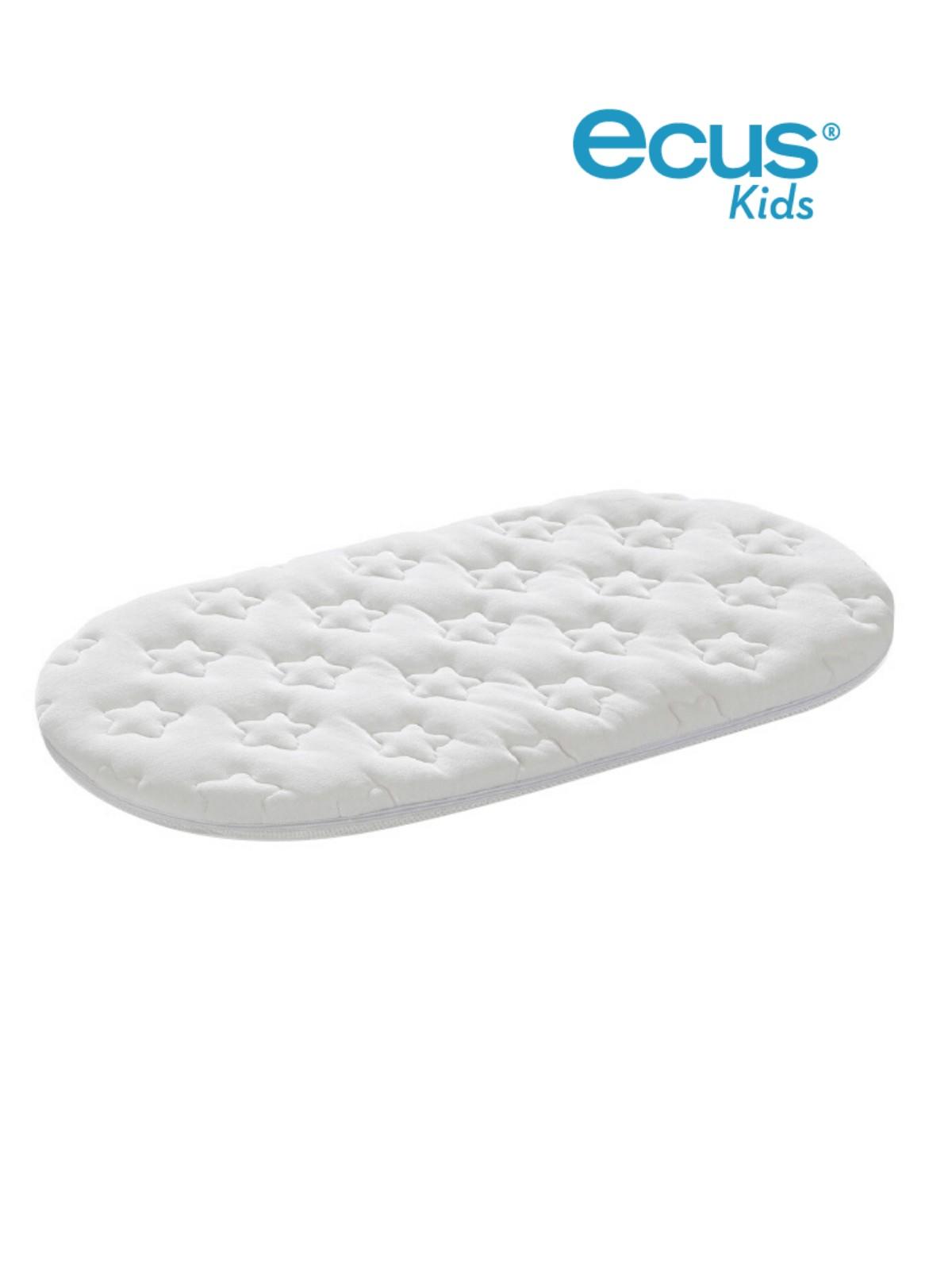 Colch/ón minicuna para capazo que evita alergias e irritaciones Ecus Kids Peti 72x33x6